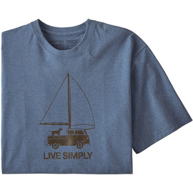 Patagonia Live Simply Wind Powered Responsibili-Tee Men woolly blue